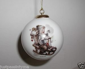 "M.J.Hummel,Gobel,""Winter Fun""Christmas,Holiday Ornament,Heavy Porcelain,Germany"