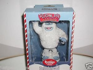 """Rudolph The Red-Nosed Reindeer, """"Bumbles the Abominable Snowman Bobblehead,NIB"""