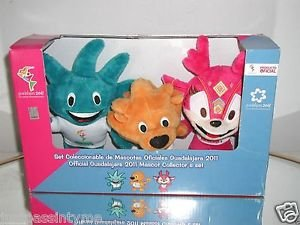 Guadalajara 2011 Pan American Games Plush Collectible Set of Official Mascots