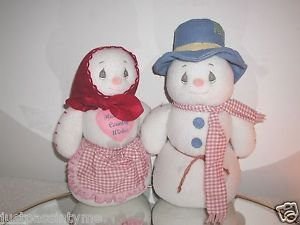 "Rare,Precious Moments, Large  15"",SNOWMAN & SNOW WOMAN Pair,VERY HTF!!1998"