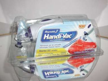 Reynolds Handi-Vac Vacuum-Sealing Starter Kit,Keeps food Fresh! New In Package