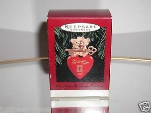 Hallmark 1995 Our First 1st Christmas Together, Mice Heart Ornament