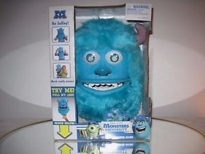 Monsters University Sulley Monster Mask with Moving Jaw and Eyebrows New in Box