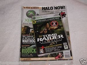 SEALED-Official X-Box Game Magazine With Tomb Raider Demo Disc-New Sealed