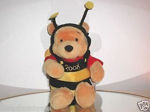 "Winnie The Pooh, 12"" , Bumble Bee Plush Bear, Walt Disney Toy,NEW WITH TAGS"