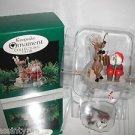 "Hallmark Keepsake""FISHING FOR FUN"" Ice Fishing,Christmas Ornament,New In Box"