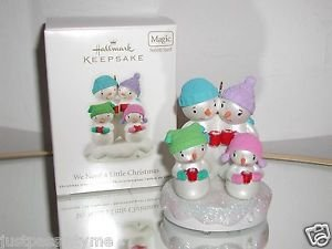 "Hallmark Keepsake""We Need a Little Christmas""2011 Christmas Ornament,w/Sound,NIB"