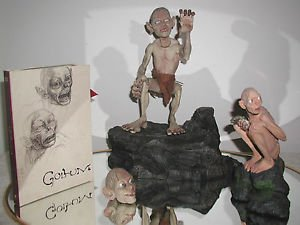 Lord Of The Rings,Smeagul,Gullom Collection,Talking Gullum w/Heads,Statue & DVD