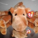 "Ty ""Humphrey"" Beanie Buddy,EXTREMELY RARE 1st Gen.Tags,Black/Red-Free Shipping!"