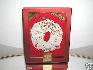 """LENOX,Christmas Wreath Ornament,""""From Our Home To Yours"""" New In Box"""
