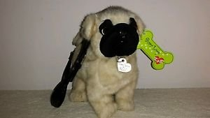 Plush PUG Puppy Purse Shoulder Bag Dog Purse Life Like Plush,NEW W/TAG