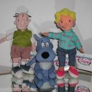 "Disney, ""Doug"", ""Patti"" and  ""Porkchop"" Plush Beanie Set, New With Tags! @"