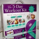 The 5-Day Workout Kit,DVD,Book,Fitness Ball,Yoga &Exercise Plan, NEW ! LAST ONE!