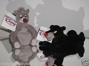 "Disney,Jungle Book ""Bagheera"" and ""Baloo"" Plush Beanie Set,New With Tags! @"