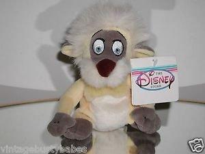 """Disney GURGI 8"""" The Black Cauldron Bear Ape Dog Plush Bean Bag, RARE, NWT  @"""