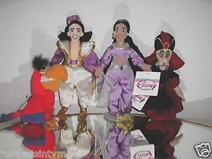 Disney, ALADDIN, IAGO, PRINCESS JASMINE and JAFAR ,Plush Beanies,New With Tags @
