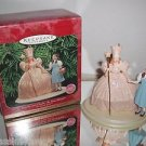 "Hallmark Wizard of Oz ""Dorothy & Glinda,The Good Witch"" Holiday ornament w/stand"