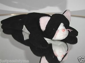 Ty Beanie Baby Zip The Cat,Rare,Old Face,1st gen Tush Tag