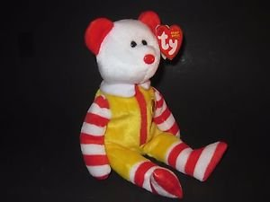 Ty  Ronald McDonald Beanie Baby Bear 2004 CONVENTION EXCLUSIVE New With Tags!