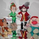 Disney,Plush Beanie Set,Peter Pan,Captain Hook, Nana, and Smee,New With Tags! @