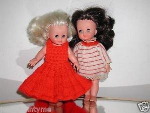 Furga Dolls,Mini Pair,Blonde & Brunette,Made In Italy,Highty Detailed Dolls !