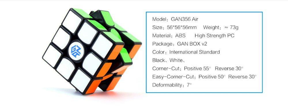 GAN356 AIR 3x3x3 Magic Cube Speed Twist Puzzle