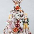 Capodimonte Reproduction Figural Clock