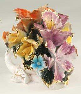 Capodimonte Reproduction Floral Basket