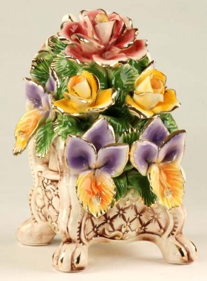 Capodimonte Reproduction Floral Chest
