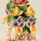 Capodimonte Reproduction Floral Chest