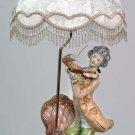 Capodimonte Reproduction Man w/ Violin Lamp