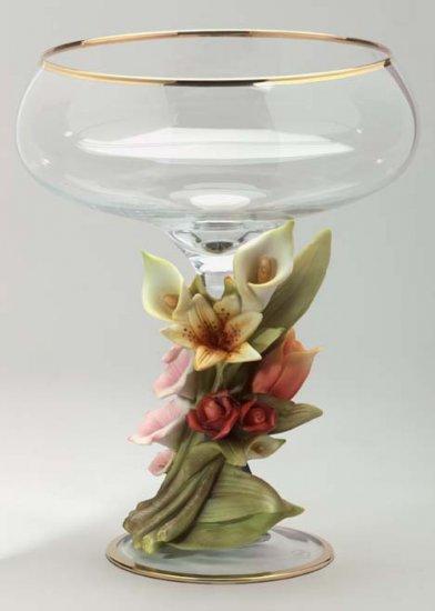 Cevik Vase w/ Flowers