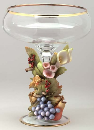 Cevik Vase w/ Fruit & Flowers