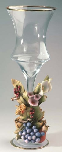 Cevik Vase w/ Fruit & Flowers