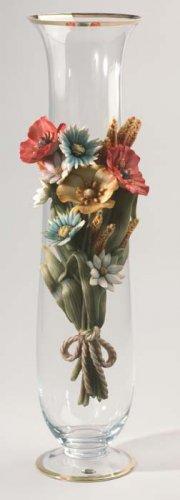 Cevik Vase w/ Flowers (Crystal)