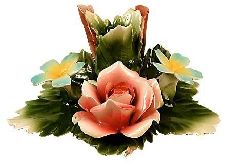 Capodimonte Rose Candelholder
