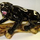 Capodimonte Black Panther on Log