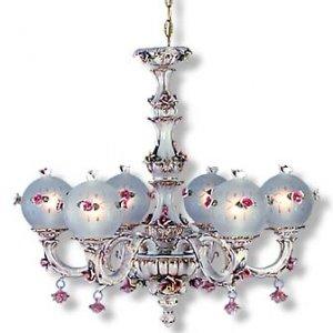 Capodimonte 6 Arm Globe Chandelier