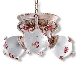 Capodimonte 3 Arm Globe Chandelier