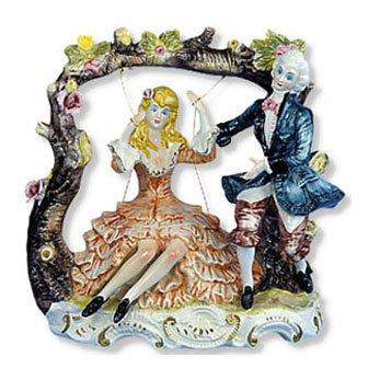 Capodimonte Couple on Swing