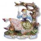 Capodimonte Lady on Swing