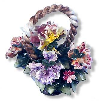 Capodimonte Orchid Basket