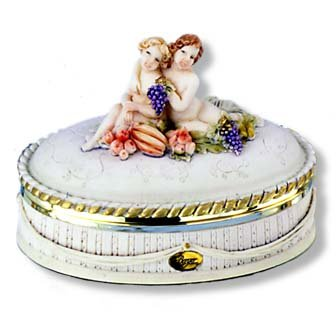 """Berger"" Cherub Oval Box- Large"