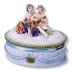 """Berger"" Cherub Oval Box- Medium"