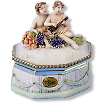"""Berger"" Cherub Octogon Jewel Box"