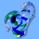 Italian Murano Elephant Blue/Green