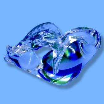 Italian Murano Swordfish Blue/Green