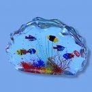 Murano Aquarium w/ Six Fish