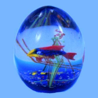 Murano Egg Aquarium w/One Fish