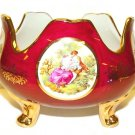 Limoge Reproduction Red Bowl